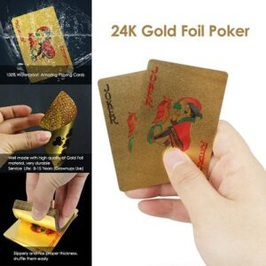 cartas de poker de oro